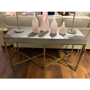 CONSOLE-GRAY SHAGREEN TOP