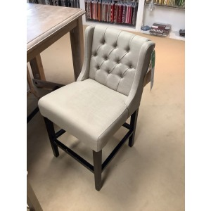 COUNTER CHAIR-BEIGE FABRIC