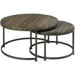 Leone Round Nesting Cocktail Tables
