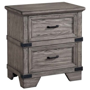 Forge 2 Drawer Nightstand