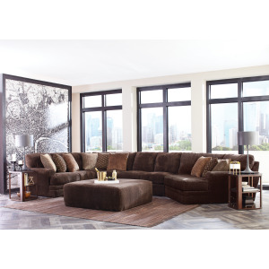 Mammoth Chocolate 3PC Sectional (Right Cuddler)