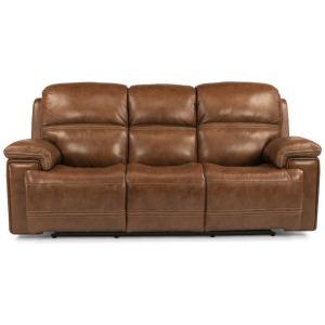 Fenwick Leather Power Reclining Sofa w/ Power Headrests