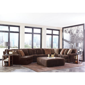 Mammoth Chocolate 3PC Sectional (Left Cuddler)