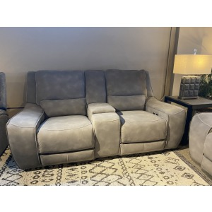 Charcoal Double Power Loveseat