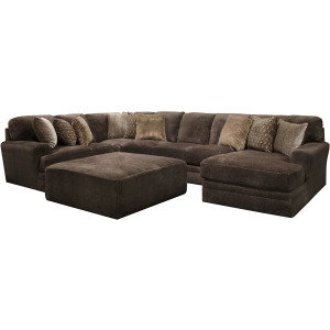 Mammoth Chocolate 3PC Sectional (Right Chaise)