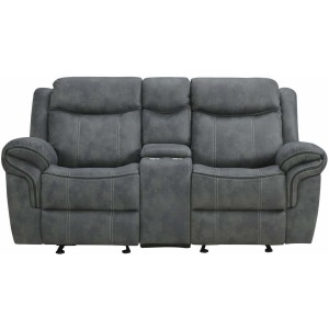 Delgado Power Reclining Glider Loveseat - Sorrento Charcoal