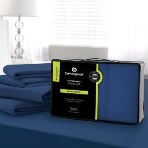 Hyper-Cotton Performance Sheet Set,Navy-Twin XL