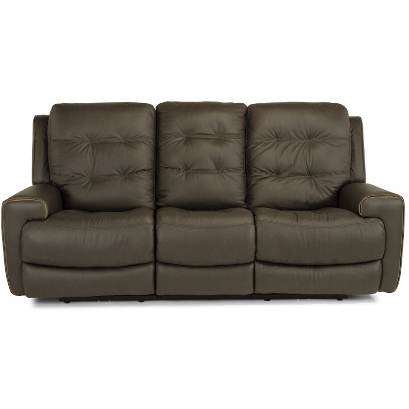 Wicklow Leather Power Reclining Sofa with Power H