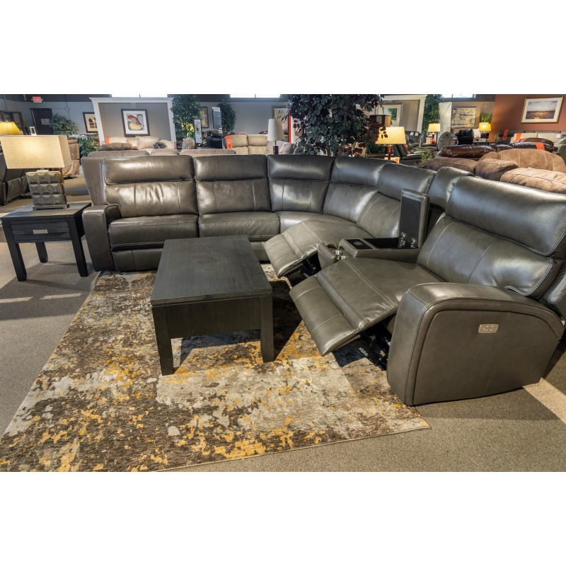 132 6PC Power Reclining Sectional