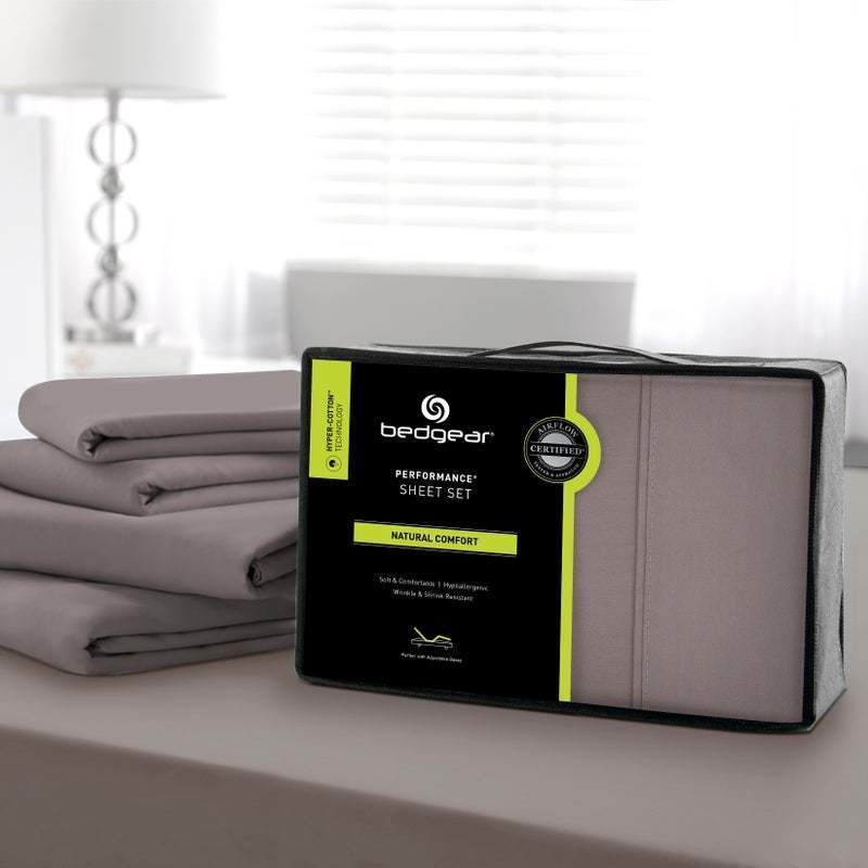 Hyper-Cotton Performance Sheet Set,Grey-Twin XL
