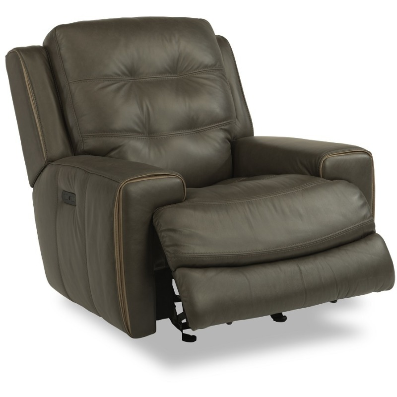 Wicklow Leather Power Gliding Recliner W/ Power H