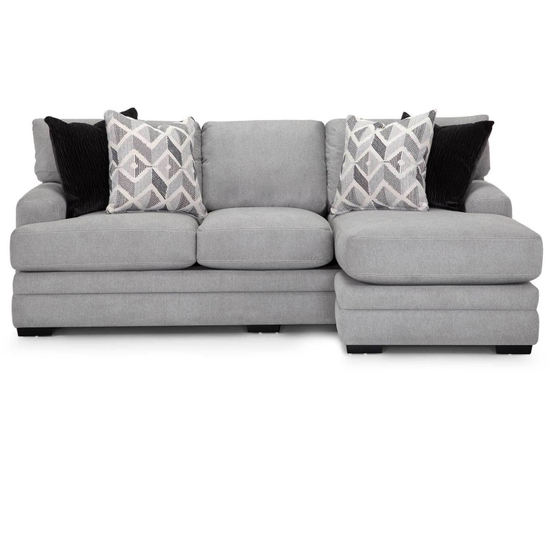 Cleo Sofa with Reversible Chaise - Casey Pebble