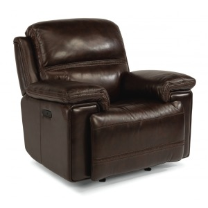 Fenwick Leather Power Gliding Recliner w/Power Headrest