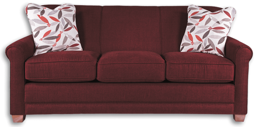 Burgundy La-Z-Boy sofa