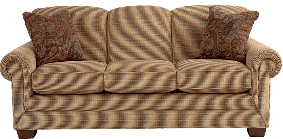 Beige La-z-Boy sofa