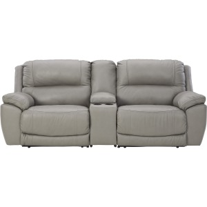 DULEITH GRAY PWR RECL LOVSEAT