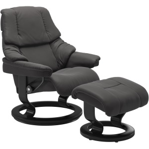 Reno Medium Classic Chair w/Footstool