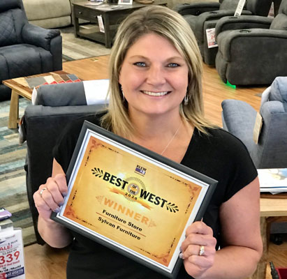 Rachel with Best of the West award
