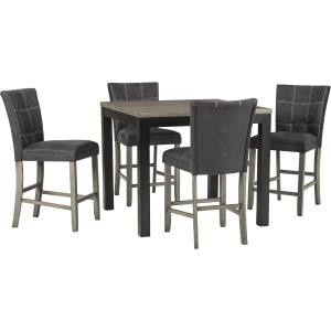 Square Counter Dining Table/ 4  Barstools