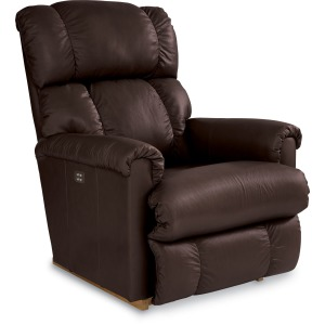 La-Z-Boy Leather Power Rocker Recliner w/ Headrest & Lumbar