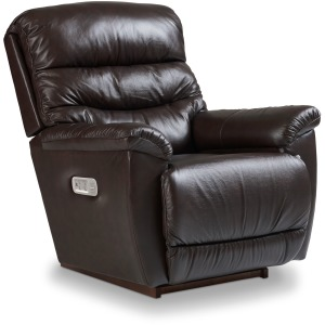 La-Z-Boy Leather Power Rocking Recliner w/ Headrest & Lumbar