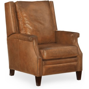Leather Manual Push Back Recliner