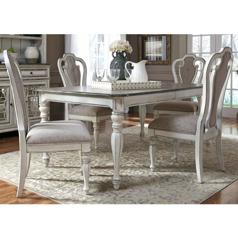 Table, 4 Side Chairs, 2 Arm Chairs