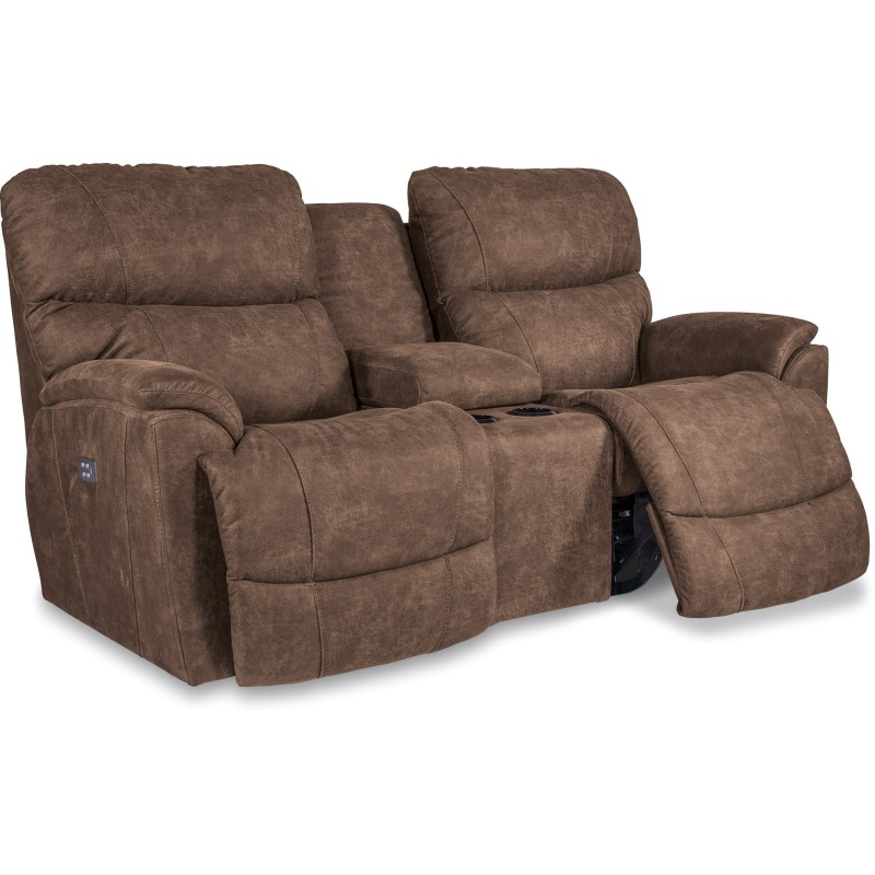 Trouper Power Reclining Loveseat w/ Headrest &