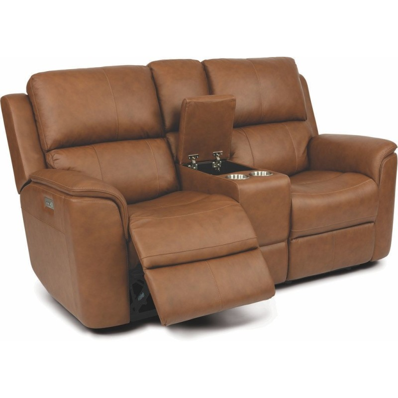 Henry Power Reclining Loveseat w/Console, Power H