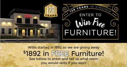 Birthday Bash Enter to Win Free Furniture