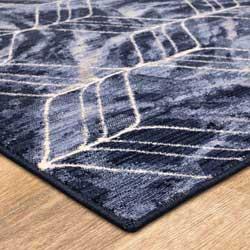 Blue rug corner