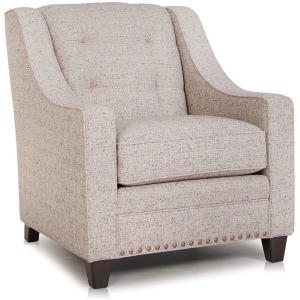Stationary Chair w/Nailhead