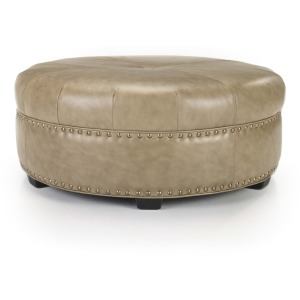 Cocktail Ottoman - Leather