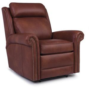 Leather Motorized Swivel Glider Reclining Chair w/Headrest