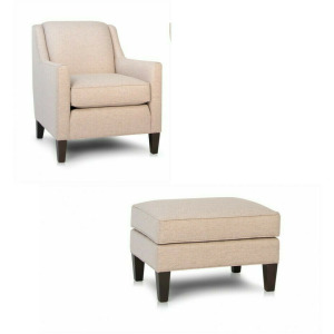 Stationary Chair with Ottoman