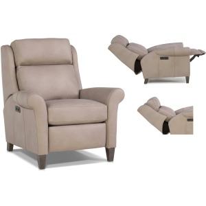 Leather Motorized Reclining Chair w/Headrest