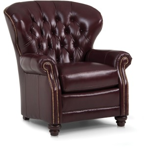 Pressback Reclining Chair - Leather