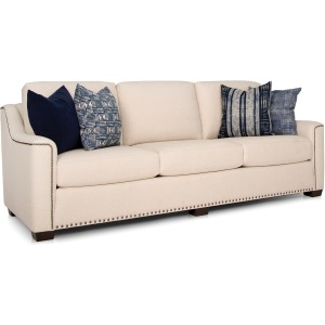 Large Fabric Sofa w/Deco Arm