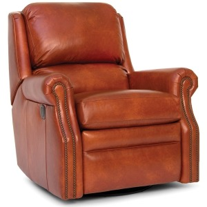 Leather Motorized Swivel Glider Reclining Chair