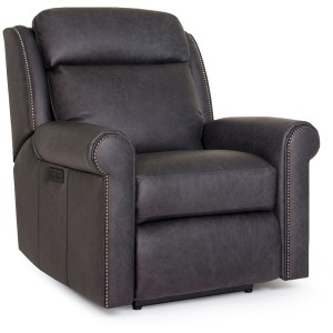 Leather Motorized Reclining Chair with Headrest