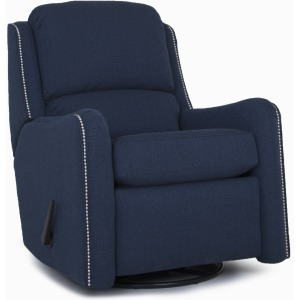 Leather Swivel Glider Reclining Chair