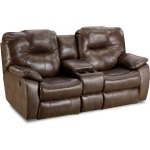 Avalon Power Double Reclining Sofa with Drop Down Table
