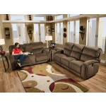 Fandango Double Reclining Sofa with Power Headrest and 2 Pillows