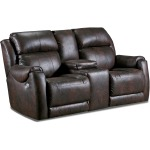 Safe Bet Power Headrest Loveseat with Console