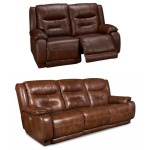 Cresent Memory Plus Double Reclining Sofa & Loveseat Set