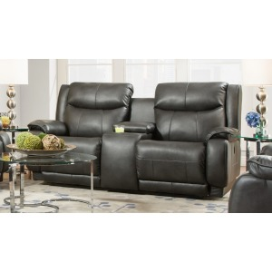 Velocity Double Reclining Loveseat with Console