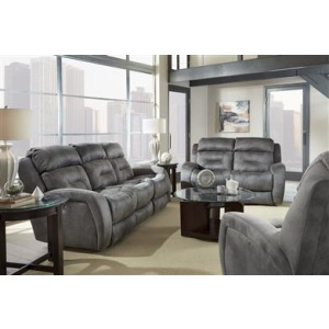 Showcase Double Reclining Loveseat with Power Headrest
