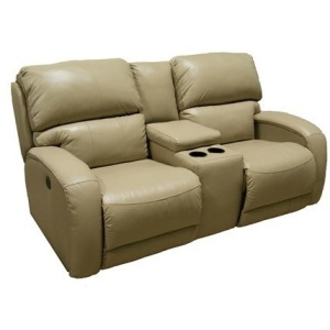 Fandango Double Reclining Sofa w/Console & Power Headrest w/SoCozi