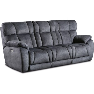 Wild Card Double Reclining Sofa with Drop Down Table