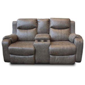 Marvel Double Reclining Sofa w/Console & Power Headrest